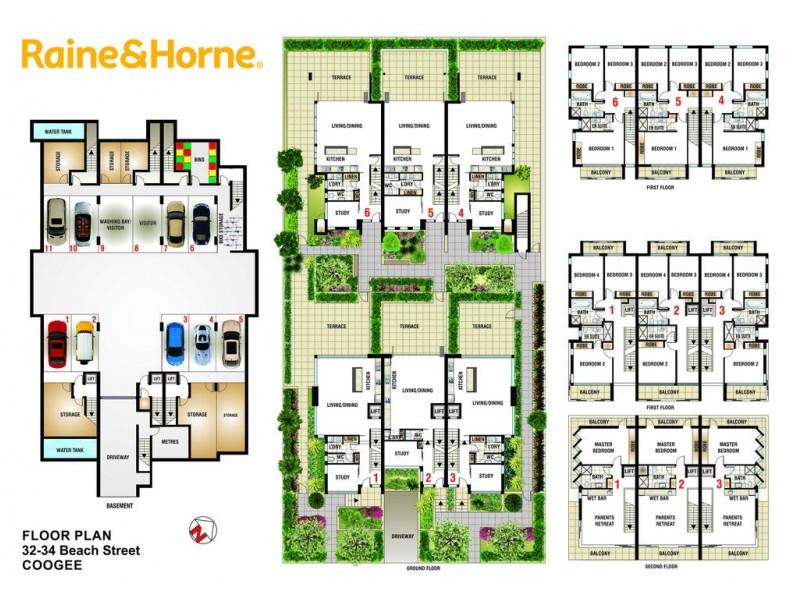 MOONTA 32-34 Beach Street, Coogee NSW 2034 Floorplan