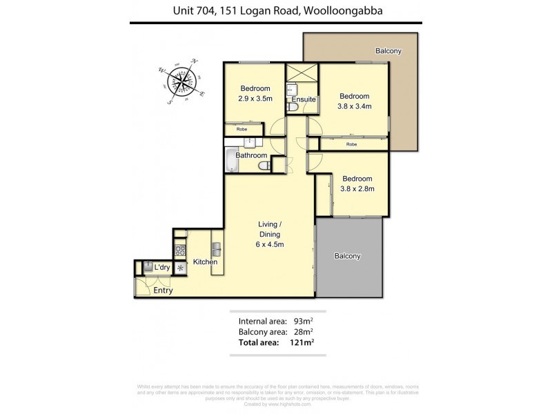 'Eastwood' 702/159 Logan Road, Woolloongabba QLD 4102 Floorplan