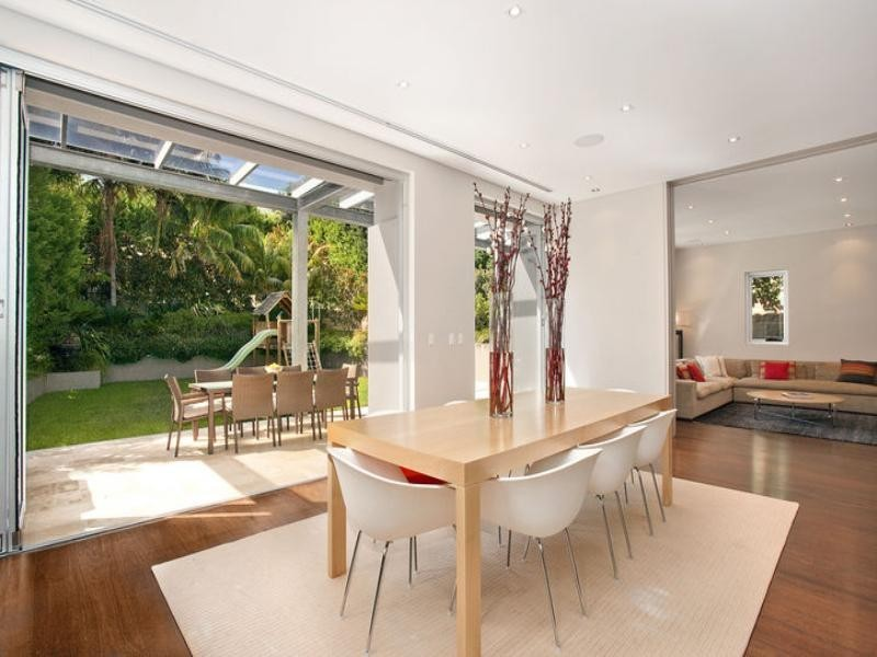 contemporary style dining room